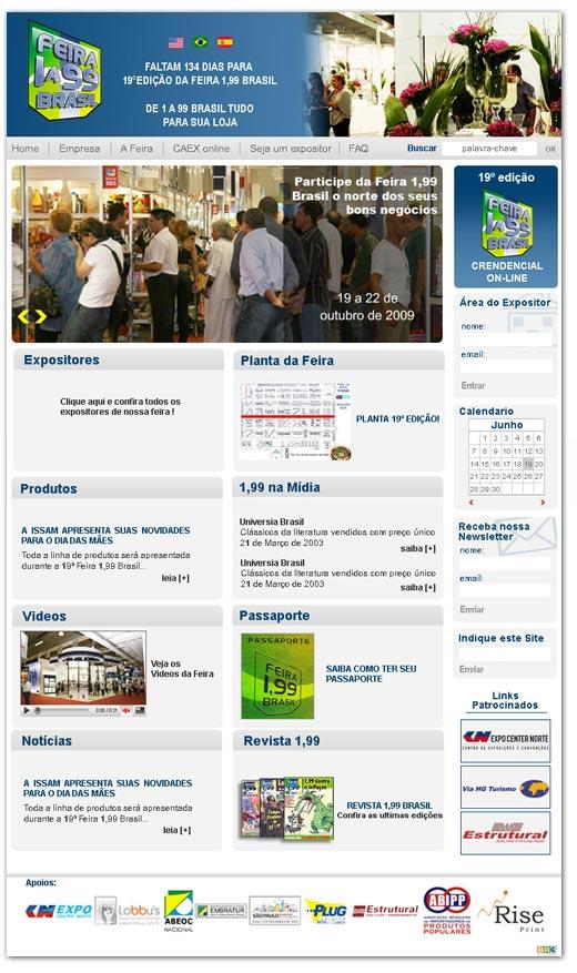 Site Feira 1 a 99 Brasil