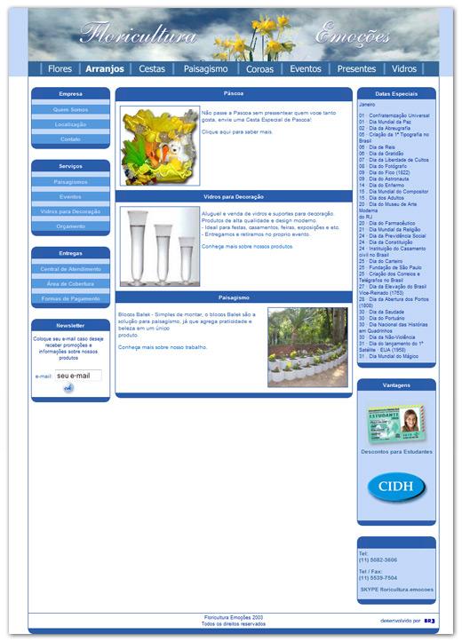 Site da Floriculturas Emoções Br3 Site sites cases image
