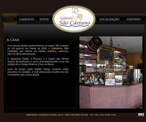 Site Galeteria São Caetano