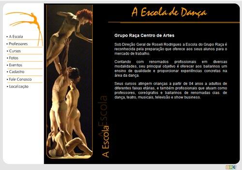 Site Grupo Raça Centro de Artes