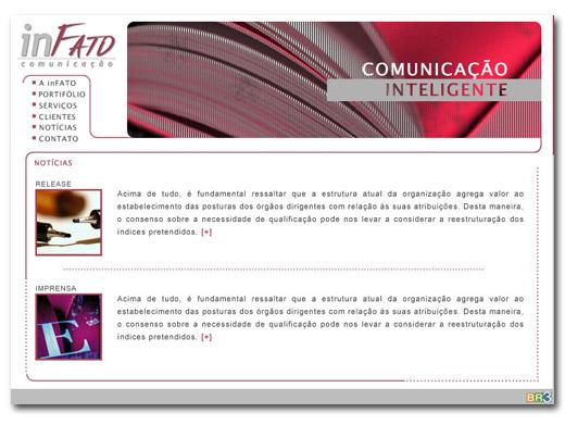 Site inFATO Comunicação