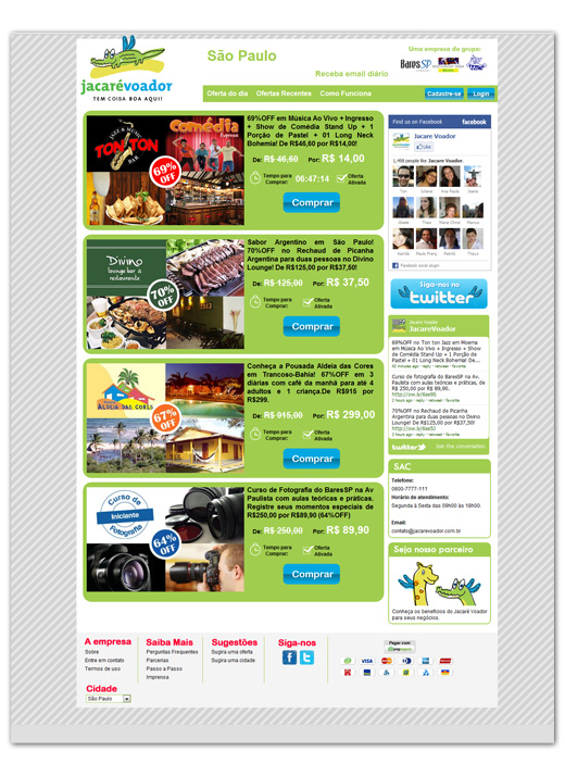 Site de Compras Coletivas Jacaré Voador Br3 Site sites cases image