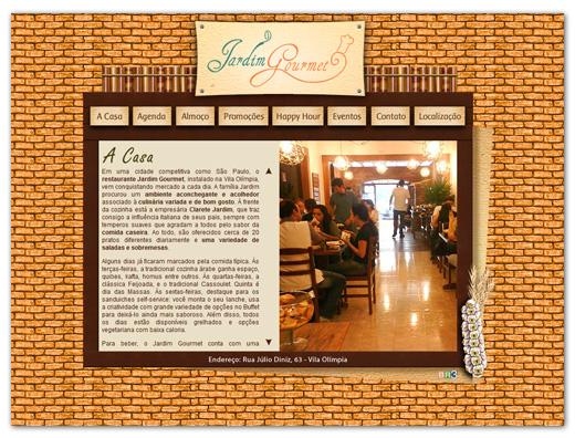 Site Restaurante Jardim Gourmet