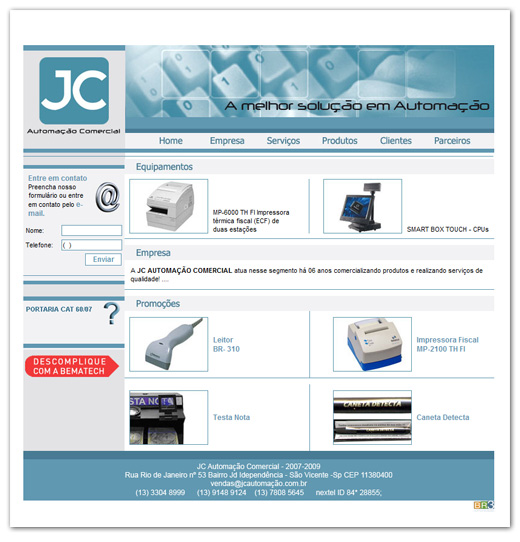 Site JC Automação Br3 Site sites cases image