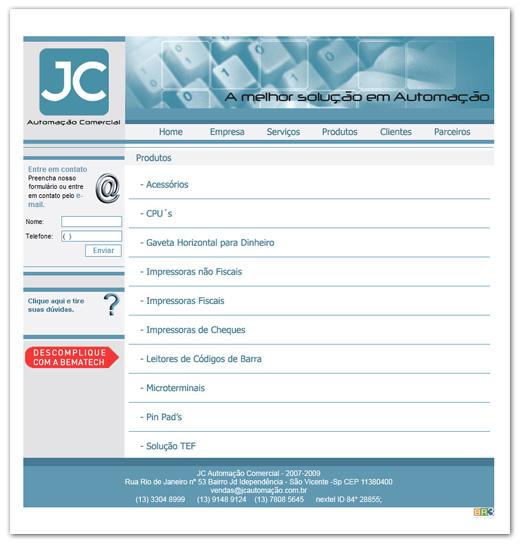 Site JC Automação