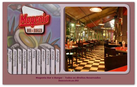 Site Magenta Bar e Burguer