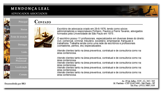 Site Mendoça Leal Advogados Br3 Site sites cases image