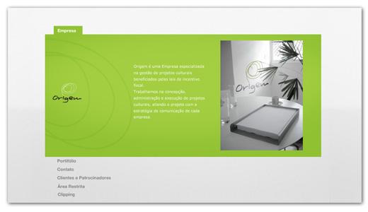 Site Origem Produções