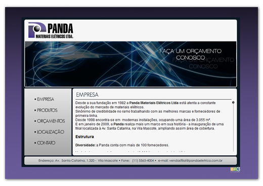 Site Panda Elétrica