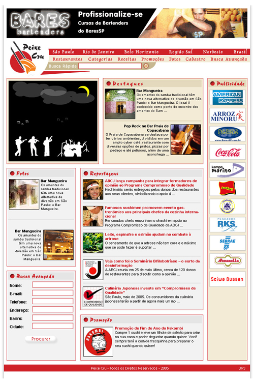 Site Peixe Cru Restaurante Br3 Site sites cases image