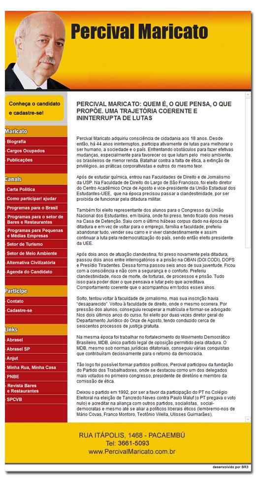 Site Percival Maricato