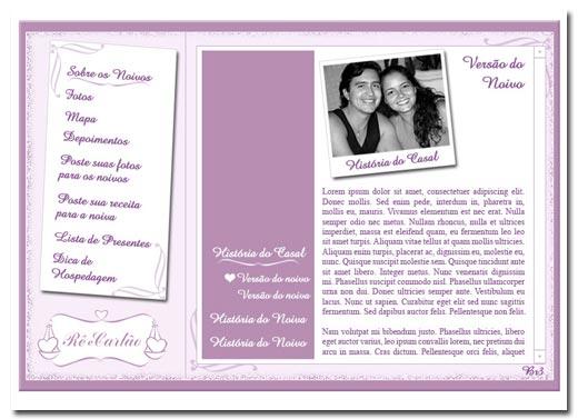 Hot Site de Casamento Rê e Carlão