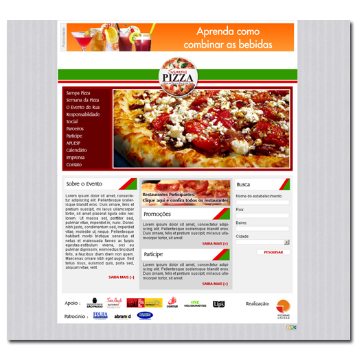 Site Sampa Pizza