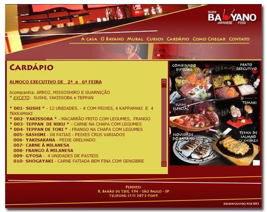 Site Sushi Bayano