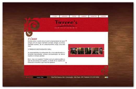 Site Tirrenos Bar e Restaurante