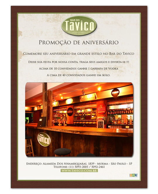 E-mail Marketing Bar do Tavico