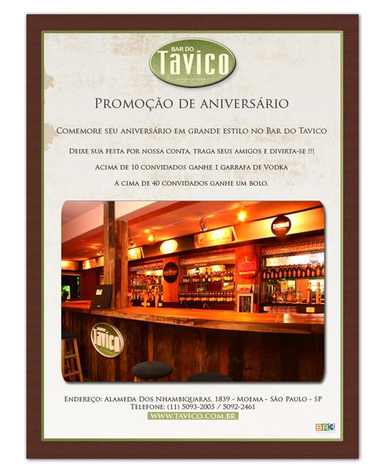E-mail Marketing Bar do Tavico