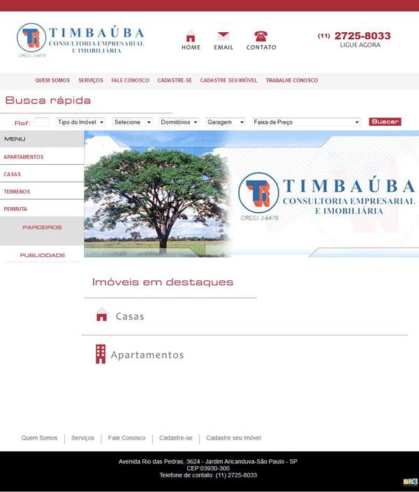Site Timbauba Imóveis