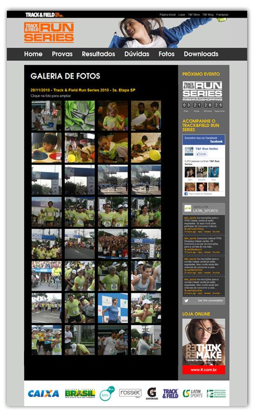 Galeria de fotos do site Track&Field Run Series
