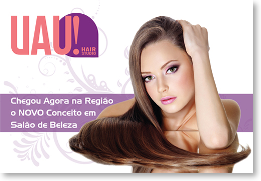 Flyer - 15x10 cm - UAU! Hair studios Br3 Site sites cases image