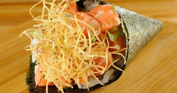 Temakis são destaque no cardápio do Restaurante Kiichi, na Vila Olímpia Eventos BaresSP 570x300 imagem