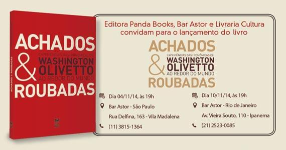 Noite de autógrafos do lançamento do livro Achados e Roubadas de Washington Olivetto no Astor Eventos BaresSP 570x300 imagem