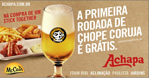 Hamburgueria Achapa realiza parceria com McCain e promove promoção durante o happy hour Eventos BaresSP 570x300 imagem