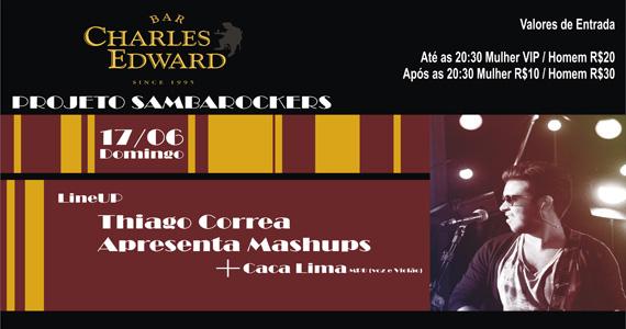 Bar Charles Edward inaugura projeto Sambarockers com Thiago Correa Eventos BaresSP 570x300 imagem