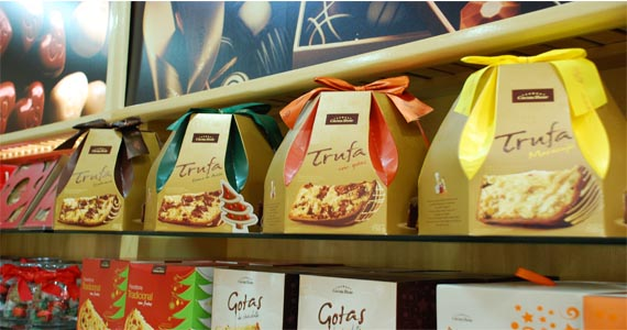 Panettones Brigadeiro e Zero Açúcar estão na lista dos mais de 40 produtos oferecidos pela Cacau Show para o Natal Eventos BaresSP 570x300 imagem