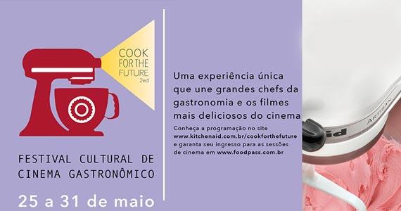 Festival Cultural de Cinema Gastronômica é o tema da edição 2015 do Cook For the Future Eventos BaresSP 570x300 imagem