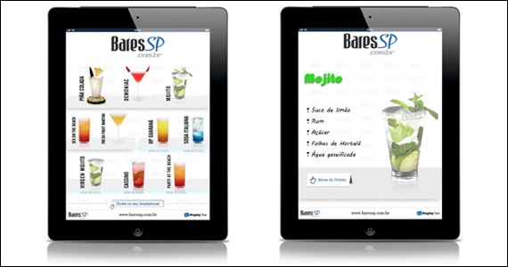 Cardápio interativo para tablet facilita pedido e escolha de drinks Eventos BaresSP 570x300 imagem