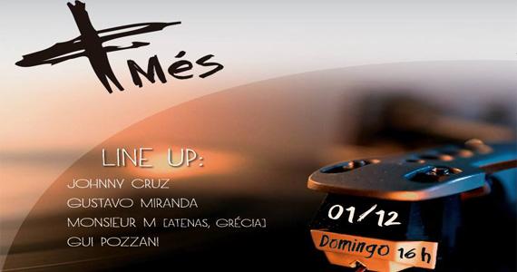 Bar Menys inaugura projeto Més para agitar as tardes de domingo Eventos BaresSP 570x300 imagem