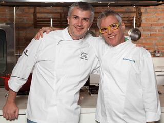 Oggi Cucina & Vino, do chef Manuel Coelho, apresenta o espetáculo Risoto com o ator Rodolfo Bottino  Eventos BaresSP 570x300 imagem