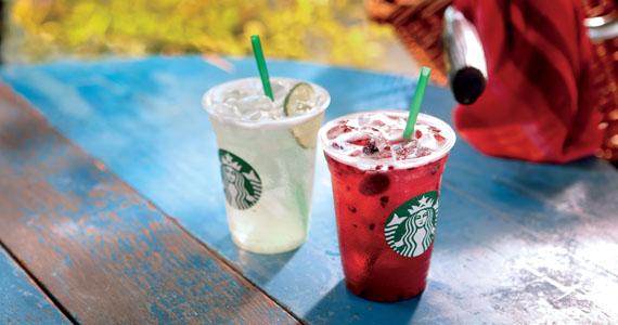 Starbucks lança bebidas refrescantes elaboradas à base de extrato de café verde Eventos BaresSP 570x300 imagem