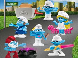 O McLanche Feliz e toda a rede McDonald's está contagiada pela febre do filme Smurfs Eventos BaresSP 570x300 imagem