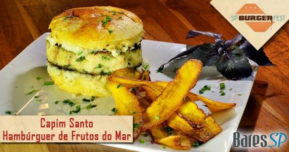 Capim Santo cria hamburguer de frutos do mar para o SP Burger Fest Eventos BaresSP 570x300 imagem