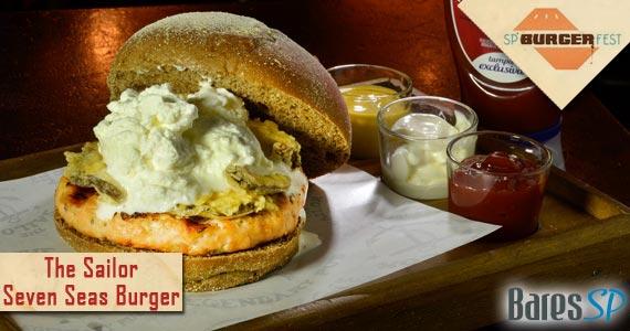 Conheça o Seven Sea Burger lanche criado pelo The Sailor para o SP Burger Fest Eventos BaresSP 570x300 imagem