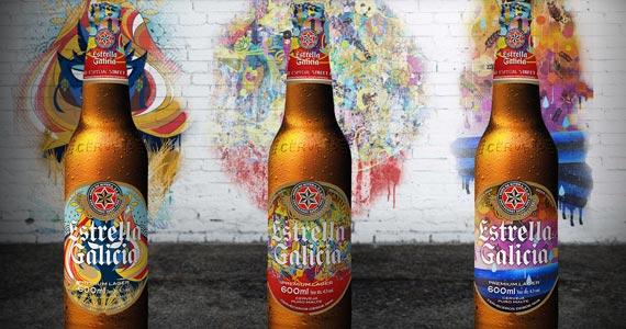 Estrella Galicia apresenta edição limitada assinada por artistas brasileiros Eventos BaresSP 570x300 imagem