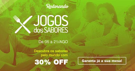 Jogos dos Sabores oferece 30% de desconto em restaurantes de SP e RJ BaresSP
