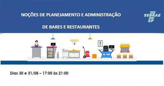 Sebrae abre inscrições para o curso de Planejamento e Administração de Bares e Restaurantes Eventos BaresSP 570x300 imagem