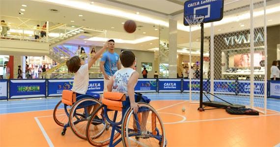 Shopping Anália Franco se transforma em arena paralímpica com projeto Experimentando Diferenças Eventos BaresSP 570x300 imagem