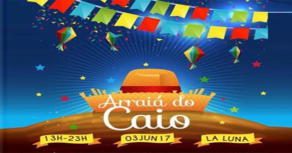 Arraiá beneficente em prol do tratamento do Caio no La Luna Club BaresSP