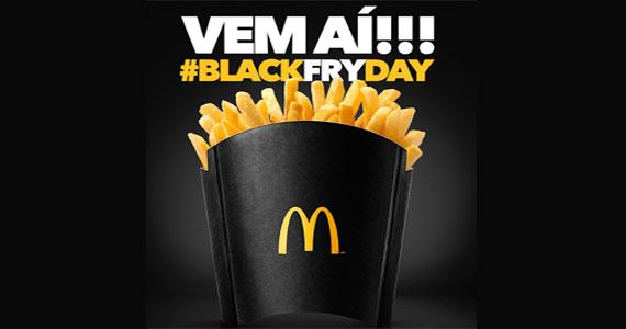 No Brasil durante a Black Friday o McDonald's irá oferecer refil de batata fritas  Eventos BaresSP 570x300 imagem