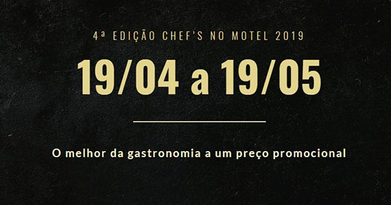 4ª edição do Chefs no Motel promete agitar a gastronomia com chefs renomados Eventos BaresSP 570x300 imagem