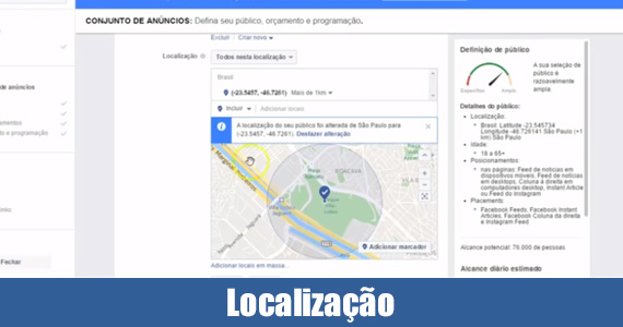 Localização do Facebook