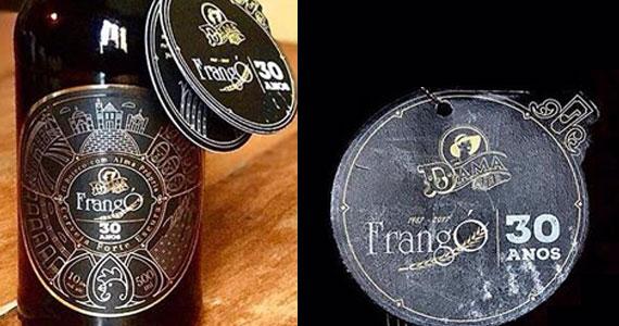 FrangÓ Bar em parceria com a Dama Bier lança um rótulo limitado para celebrar os seus 30 anos  Eventos BaresSP 570x300 imagem