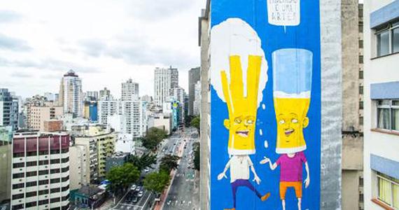 Rua da Consolação ganha grafite que incentiva o consumo consciente de bebidas alcoólicas Eventos BaresSP 570x300 imagem