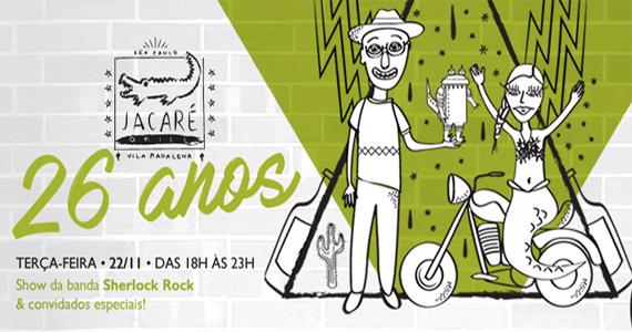 """O casal Marcelo """"Jacaré"""" e Cintia, donos do Jacaré Grill, comemoraram 26 anos do estabelecimento com grande festa Eventos BaresSP 570x300 imagem"""