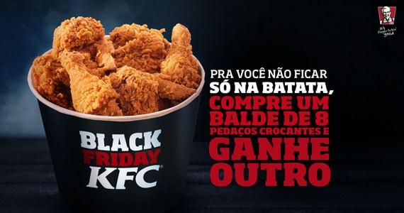 Quem comprar um balde de 8 pedaços crocantes de frangos no KFC ganha outro no ato na Black Friday Eventos BaresSP 570x300 imagem