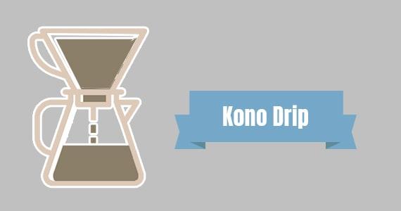 Método de preparo Kono drip